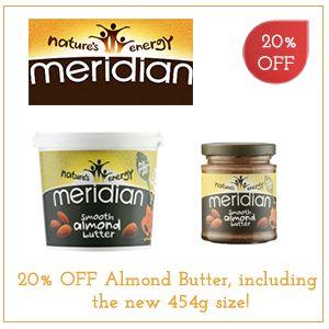 20% OFF Meridian Almond Butter!