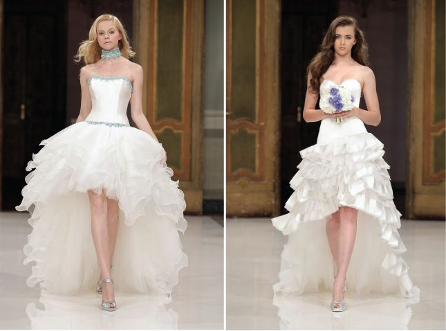 Na onda do mullet dress para noivas