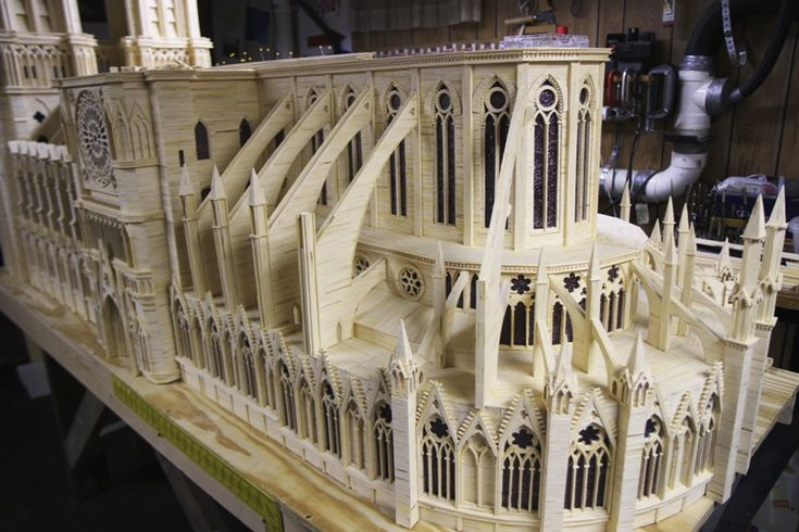 Notre Dame Cathedral - made out of matchsticks! 160,000 match sticks to be clear.
