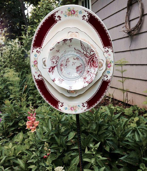 Whimsical Glass Garden Flowers