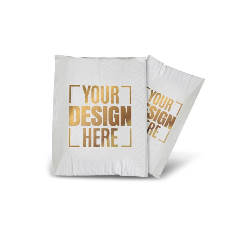 6 X 7 Premium Golden Color Printed Padded Poly Mailers & Envelopes at Wholesale rates. Free Shipping Available!