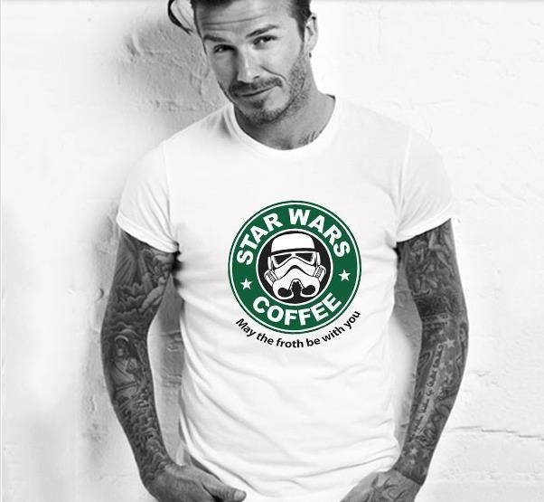 2017 summer Cool personlized star wars t-shirts t shirt funny design customized men tee shirts top cotton stylish