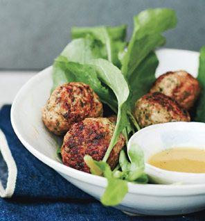 Gwenyth Paltrow's turkey meatballs  http://www.self.com/fooddiet/recipes/2013/04/turkey-meatballs