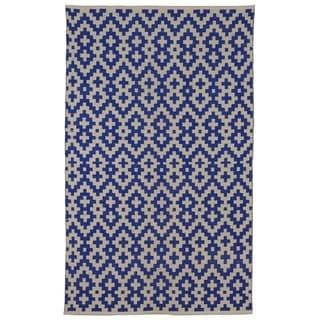 Shop for Handmade Indo Samsara Indigo and Natural Geometric Area Rug (8' x 10'). Get free shipping at Overstock.com - Your Online Home Decor Outlet Store! Get 5% in rewards with Club O! - 16858512