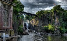 New York metropolitan area - Wikipedia, the free encyclopedia The Great Falls of the Passaic River in Paterson, Passaic County, New Jersey, dedicated as a National Historical Park in November 2011, incorporates one of the largest waterfalls in the eastern United States.[21]