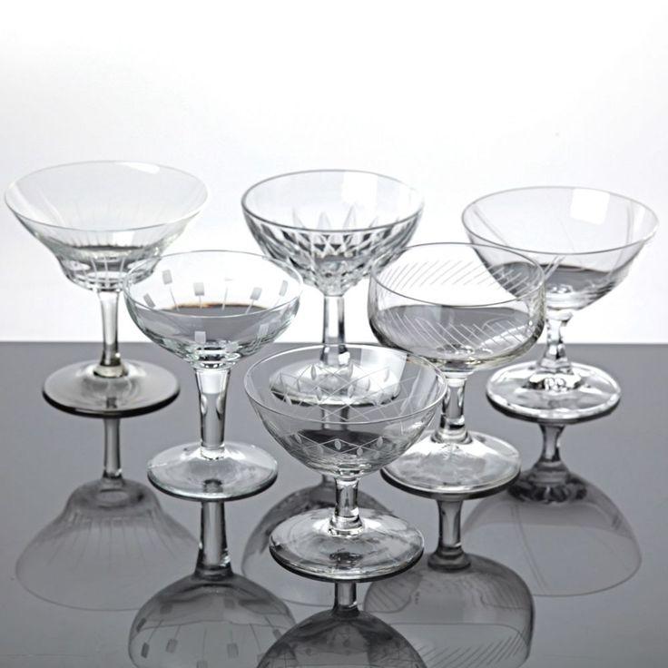 6 Likörgläser Eierlikör Gläser Likörschalen verschieden Mix Gläser Set Sammlung