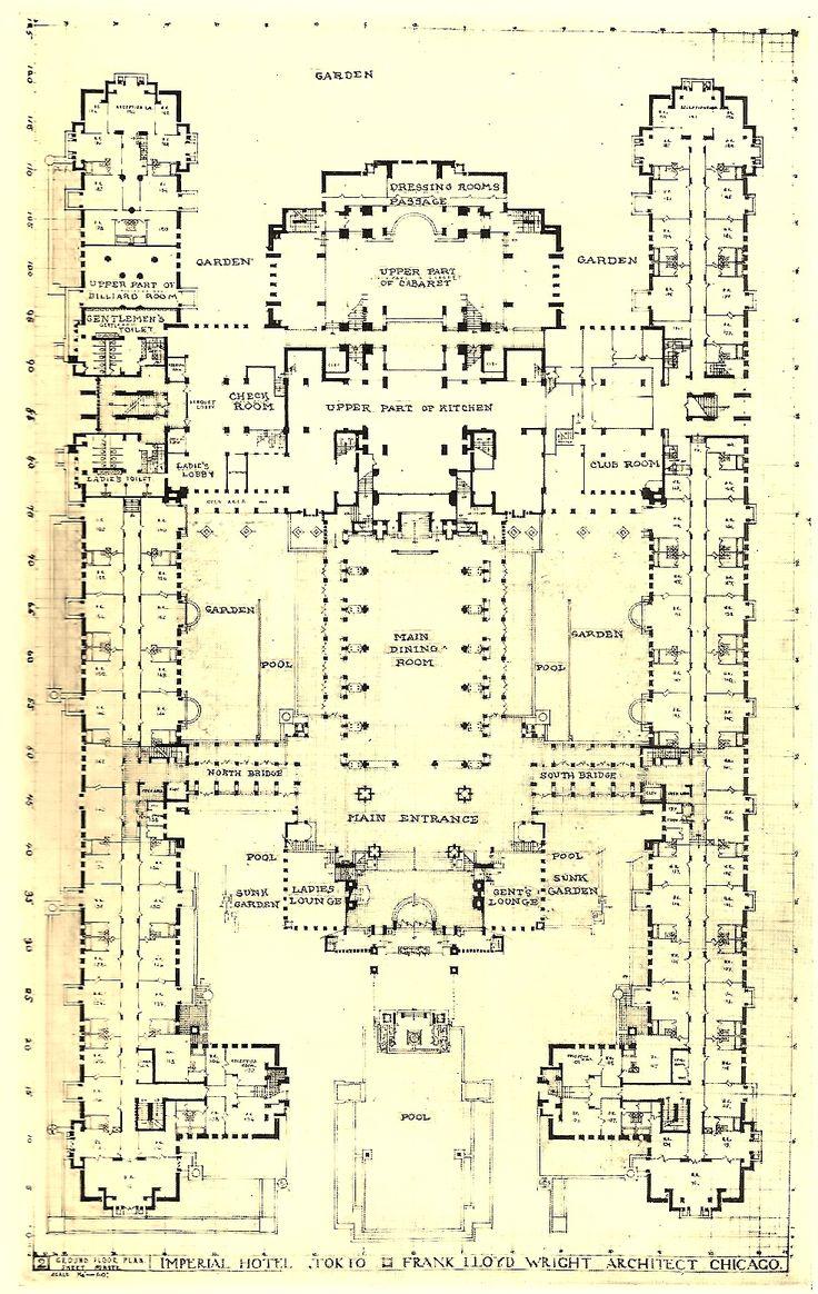 Imperial Hotel, Tokyo Japan (1915-21, demolished 1968) | Frank Lloyd Wright