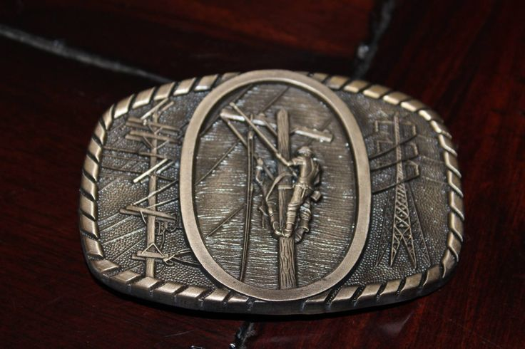 Solid Brass Power Lineman Belt Buckle by LinemanLove on Etsy https://www.etsy.com/listing/169884857/solid-brass-power-lineman-belt-buckle