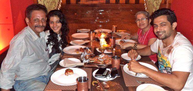 Pushkaraj enjoying Golconda Nizami Raan, Patthar ka Gosht & Sigri ka Murgh on his Birthday with Family at The Golconda Bowl, Hill Road, Bandra (W), Mumbai