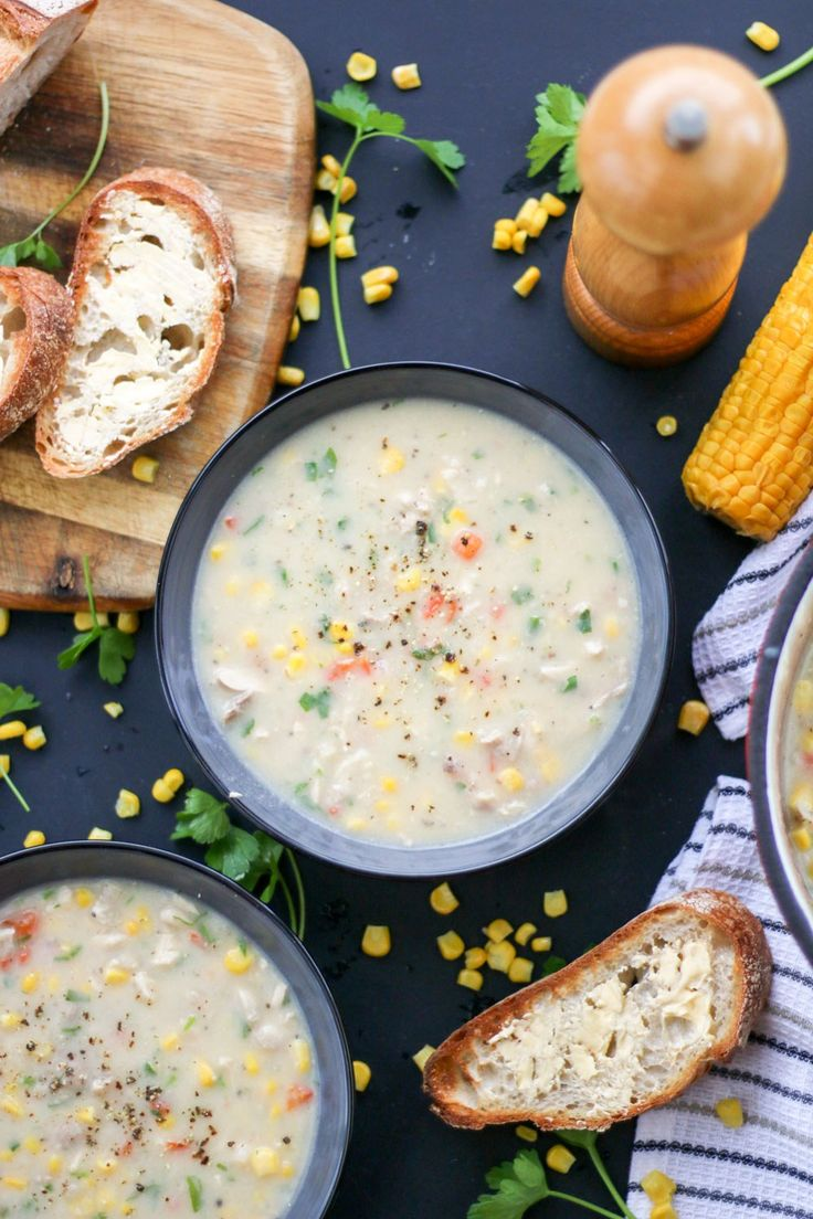 Being sick sucks, but gives you an excuse to cook soup! This Chicken & Sweetcorn soup is nutritious, packed full of veggies and dairy and gluten free! | www.castironcookie.com