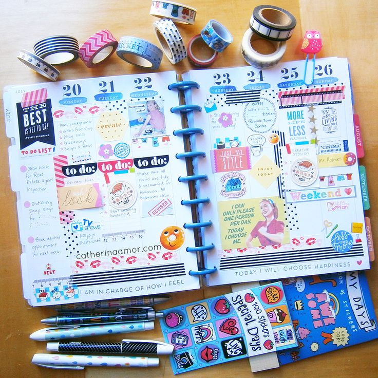 Planner decoration ideas catherina amor planners for Happy planner ideas