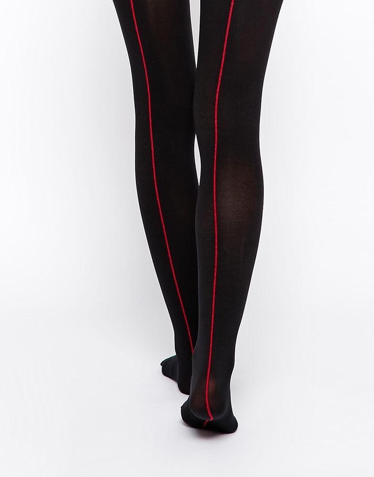 Tights by Jonathan Aston Semi-sheer stretch fabric High rise stretch  waistband Seam detail through leg Hand wash Polyamide, Elastane