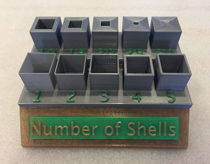 Number of Shells Display, Explains the Settings when slicing