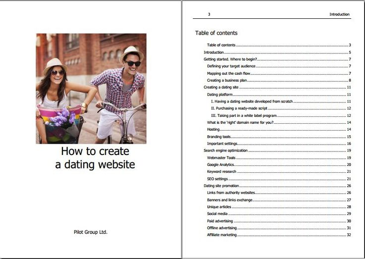 'Dating Site' - Website Template