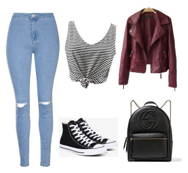 looks de otoño invierno by lidiasalazar on Polyvore featuring polyvore Glamorous Converse Gucci fashion style clothing