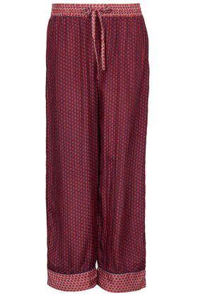 Tile Print Silk PJ Trousers.#DearTopshop