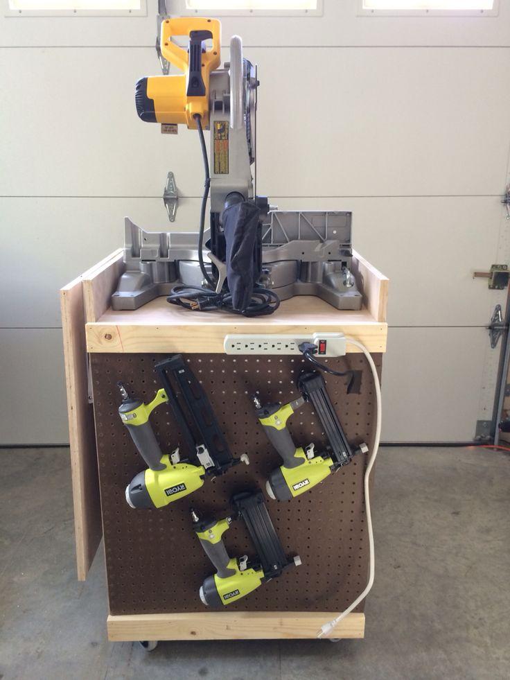 Back Side Storage For Air Guns Mitre SawAir Compressor