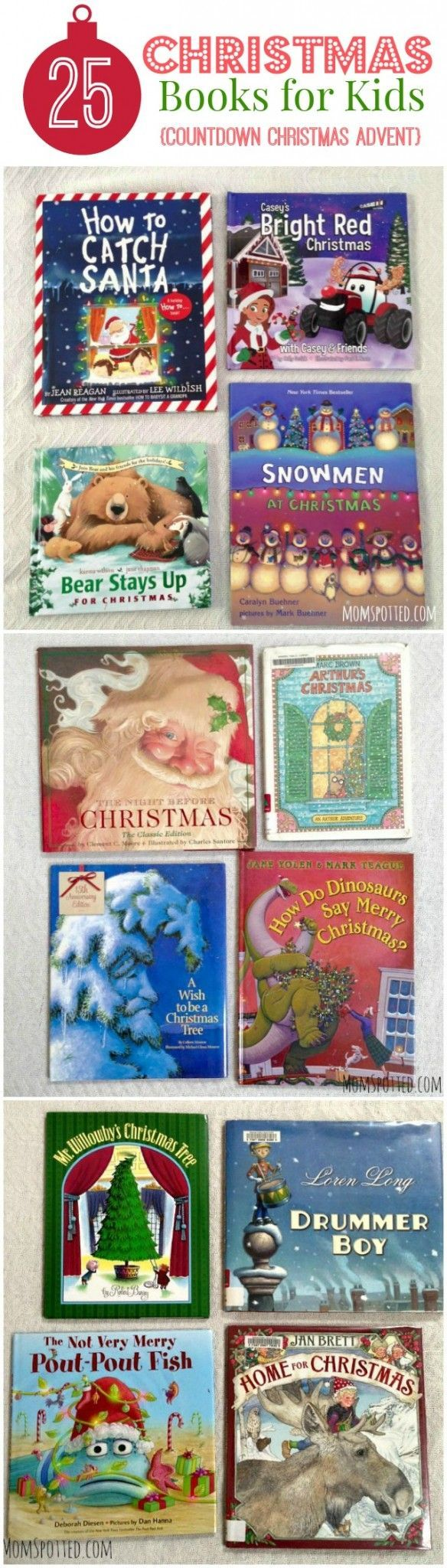 25 Days of Christmas Books for Kids {Countdown Christmas Advent}