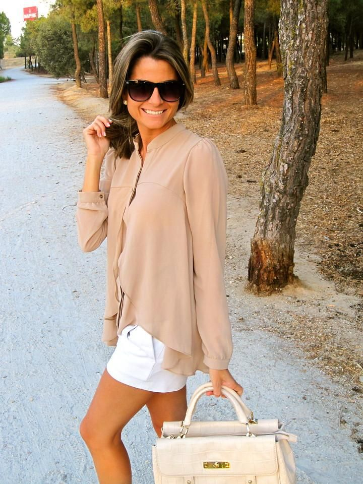 neutrals: Forever21 Shirts, Chiffon Blouses, Fashion Style, New In, Mango Glasses, Shirts Blouses, Closet, My Closet, Bags