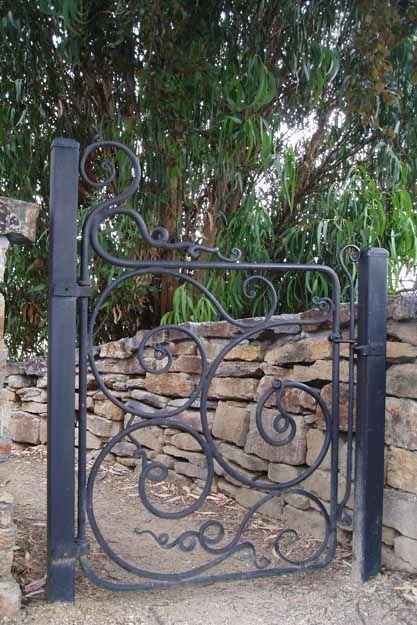 Bruce Pringle forged iron gate