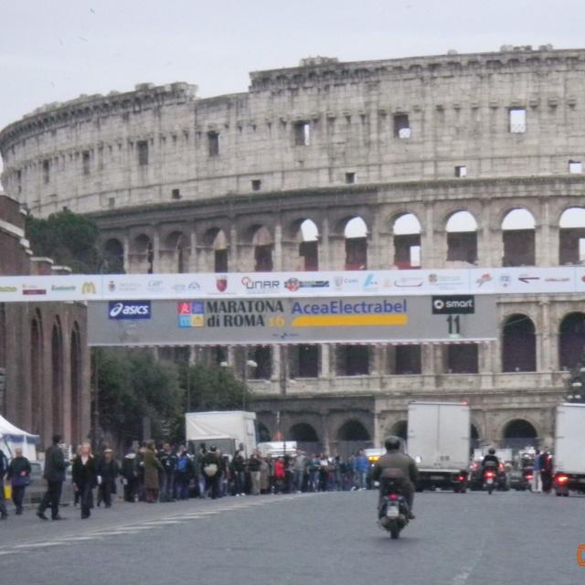 Finish line Rome Marathon