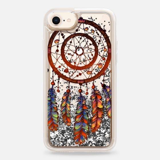 Casetify iPhone 8 Liquid Glitter Case - Dream catcher case by Priyanka Chanda