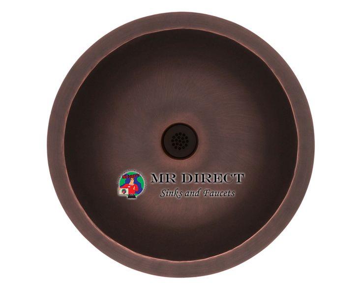 922 single bowl copper bathroom sink