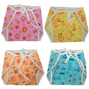 New-born-Baby-white-Cotton-Cloth-Nappies-with-colourful-print-5-pcs-Set-Washable-good-quality-0