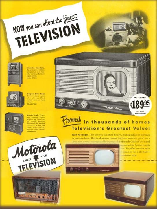 Ad for the Motorola VT-71B Table Television