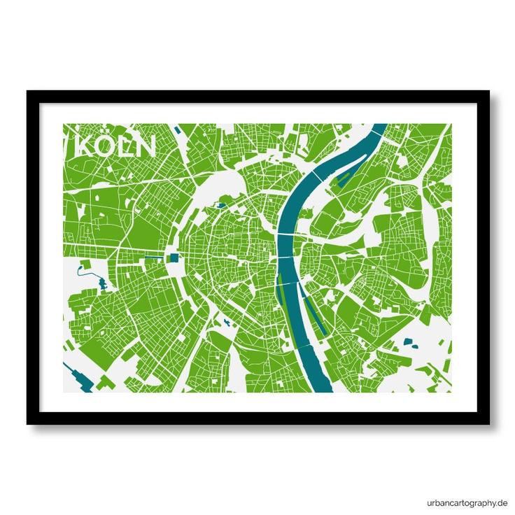 Urban Cartography Köln. A city map as unique art. Ein Kunstdruck der Stadt. Erhältlich bei urbancartography.de