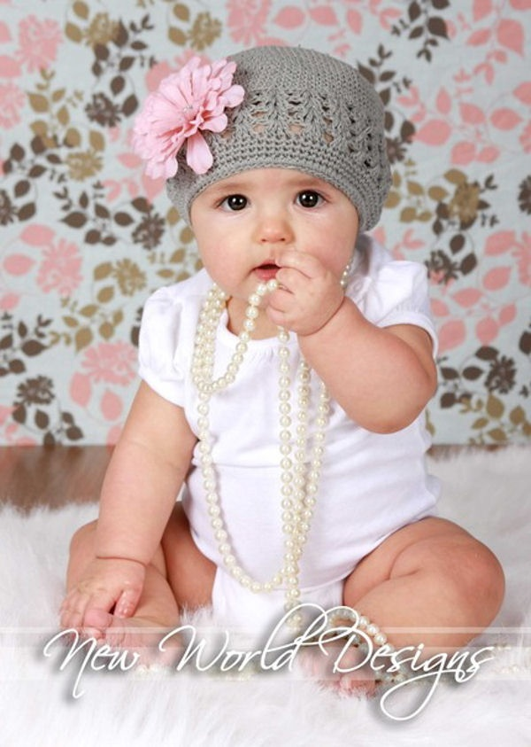 beanie hats flowers crochet