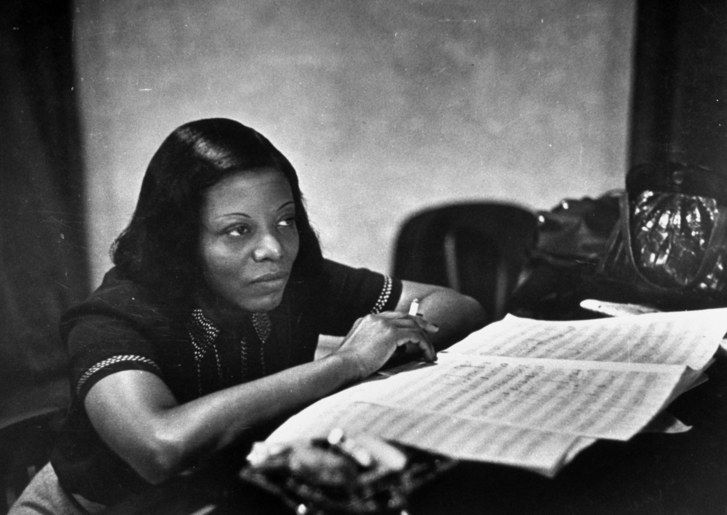 Portrait of giant MARY LOU WILLIAMS...