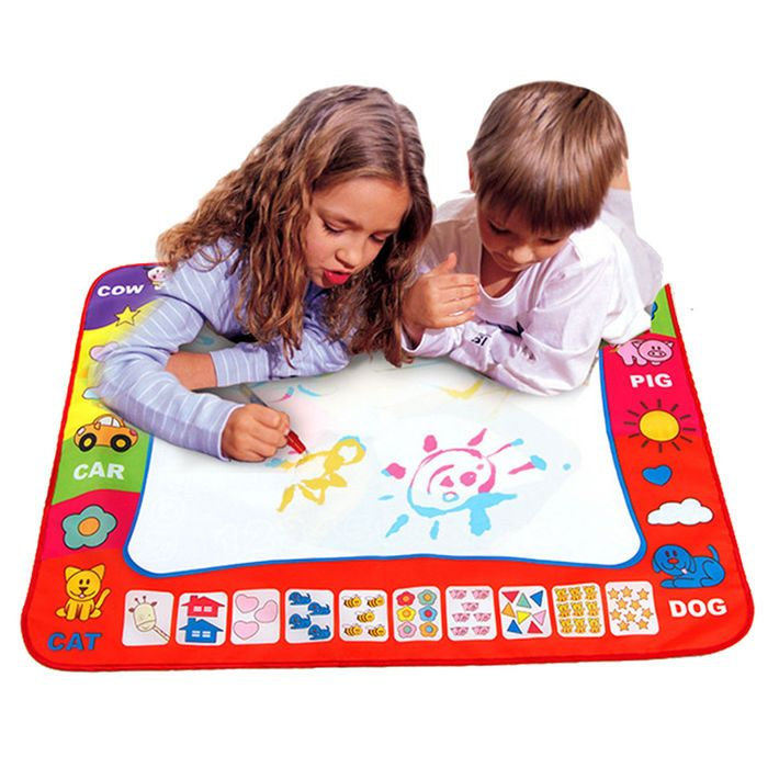 Aqua Doodle Kid Drawing Mat Magic Educational ToyS 1 Mat+ 2 Water Drawing Pen