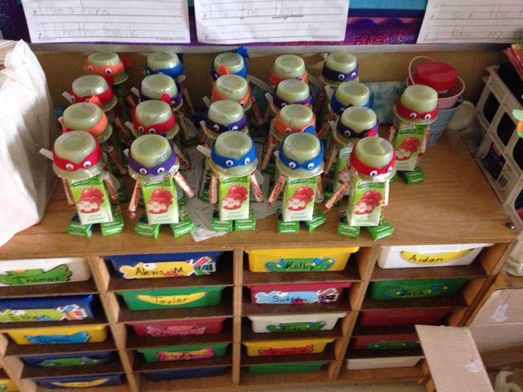 Ninja turtle snacks for 1st grade class