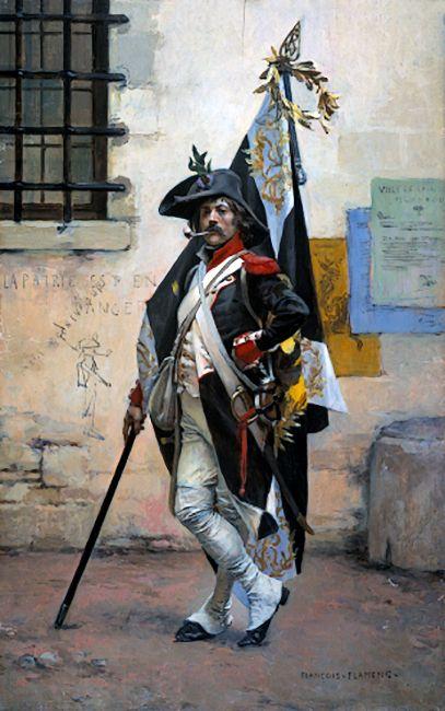 """""""Flag Bearer"""", Francois Flameng"""
