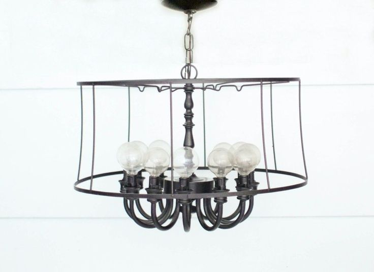 Make a modern industrial light fixture for less than 20