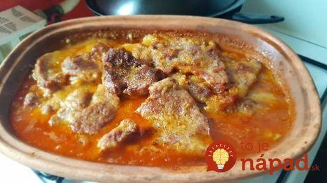 Výborný recept, ktorý nám robí teta z Bešeňovej vždy, keď prídeme. Výborné, jemné a skutočne chutné mäsko, perfektné aj na slávnostný obed