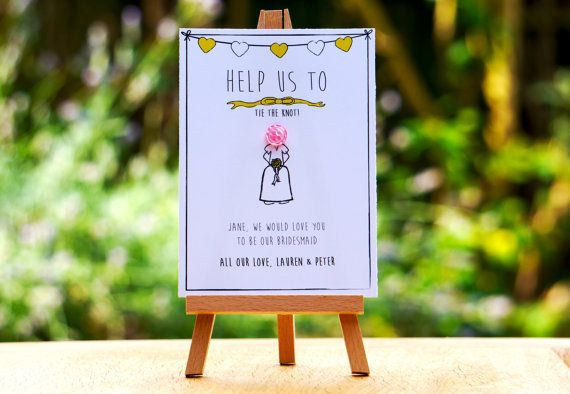 Be our: Usher, Bridesmaid, Maid of Honor and Best Man cards - Button My Wedding Range