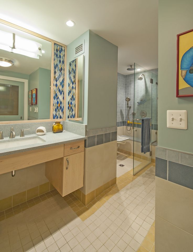 Bathroom Open Shower Design #HandicappedBathrooms U003eu003e Get More Info About Disabled  Bathroom Designs At