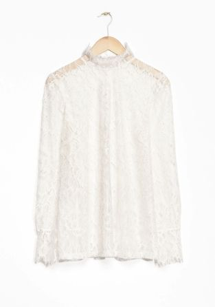 & Other Stories | Floral Lace Blouse