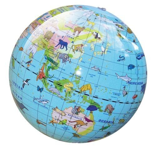 Tiger Tribe - Inflatable World Globe with Animals because we love to explore the world in a colourful way :) #entropywishlist #pintowin
