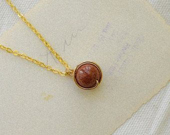 Gold and Burnt Orange Pendant, Silver and Burnt Orange Pendant, Goldstone Pendant