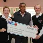 TBC hands over cheque to Douglas Murray Home
