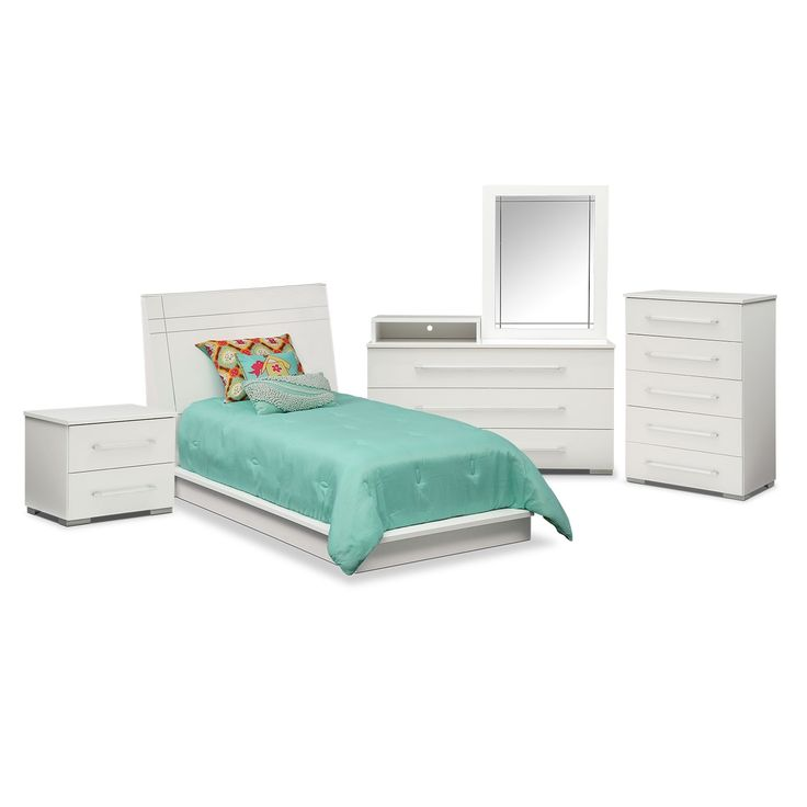 dimora bedroom set%0A Dimora  Piece Twin Panel Bedroom Set With Media Dresser  White   Media  dresser  Twins and Bedrooms