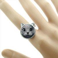 Anelli - Anello gattino - un prodotto unico di Le-gemme-di-Hemet su DaWanda