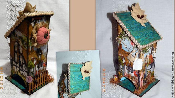 Купить Чайный домик - коричневый, бежевый, винтажный стиль, чайный домик, чай, интерьерное украшение