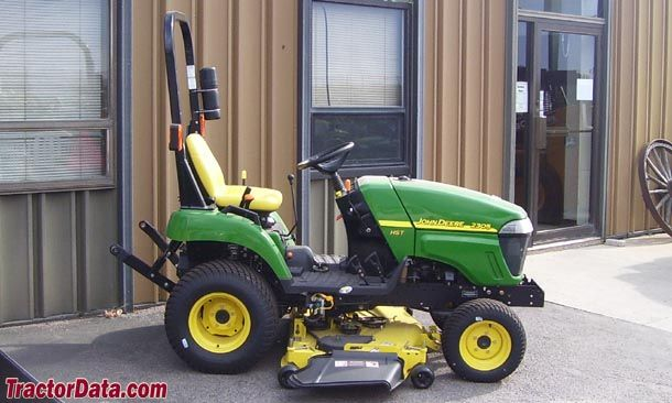 Right-side profile of the John Deere 2305
