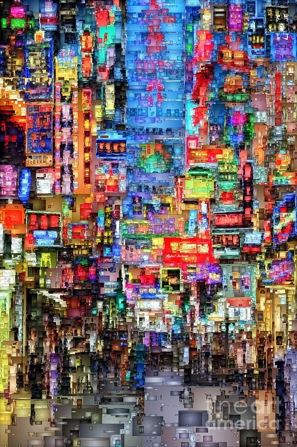 Hong Kong City Nightlife Digital Art by Rafael Salazar
