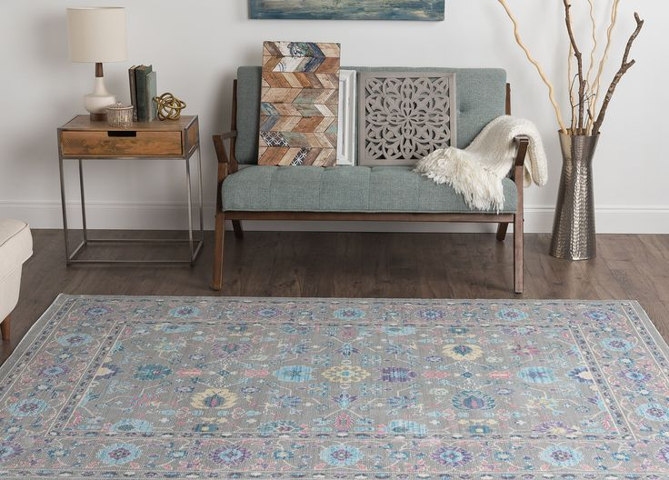 Tayse Rugs Heritage Ambrosia Gray 7 Ft. 10 In. x 9 Ft. 10 In. Traditional Area Rug
