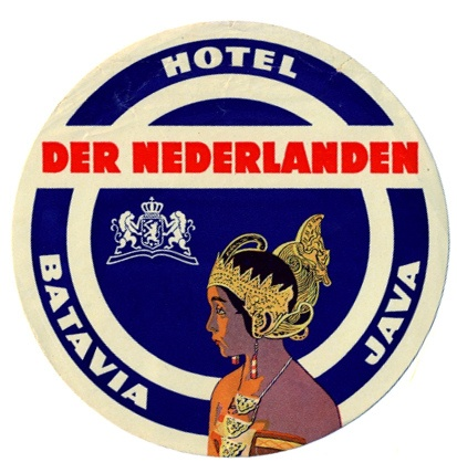 hotel der nederlanden java label.jpg by Art of the Luggage Label, via Flickr